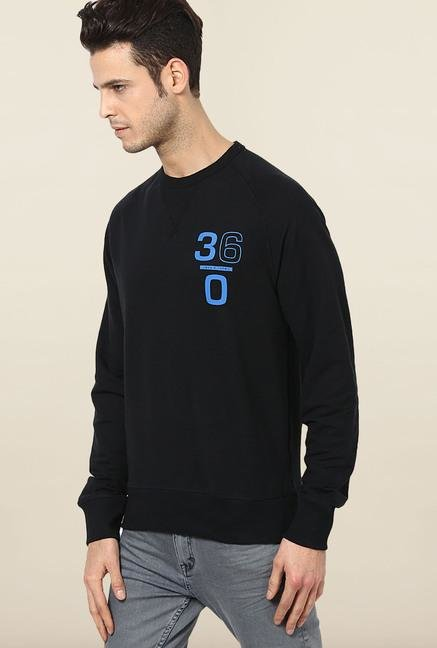 Jack & Jones Black Solid Sweatshirt