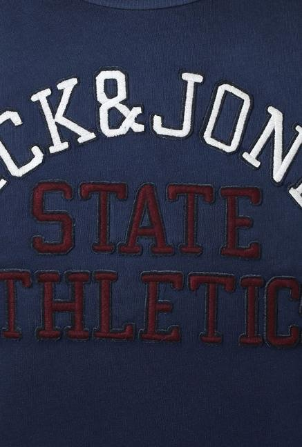 Jack & Jones Dark Blue Solid Sweatshirt