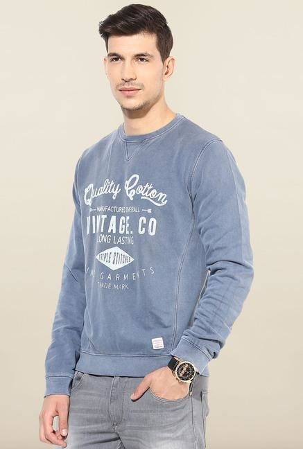 Jack & Jones Blue Crew Neck Sweatshirt