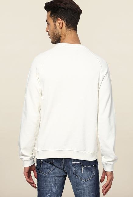Jack & Jones White Printed Sweatshirt