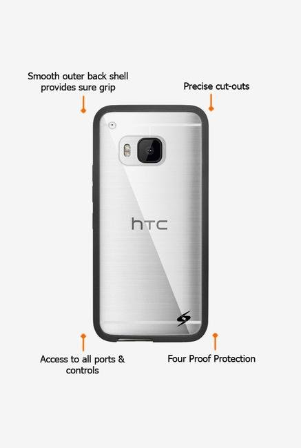 Amzer SlimGrip Hybrid Case Black for HTC One M9