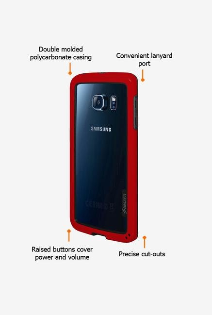 Amzer Border Case Red for Samsung S6 edge