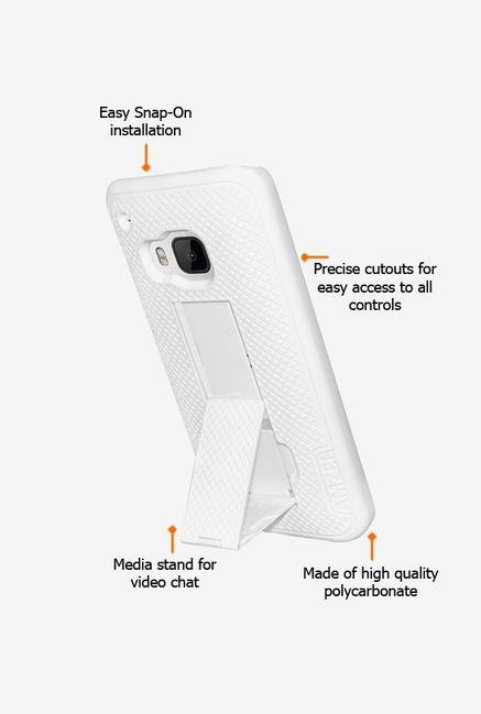 Amzer Snap On Case with Kickstand White for HTC One M9