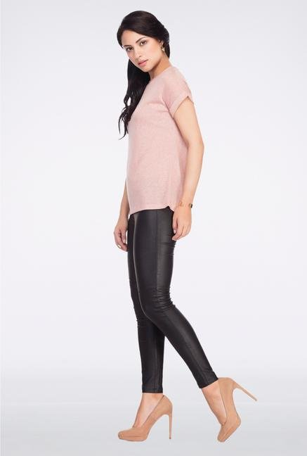 Femella Pink Solid Jersey Top