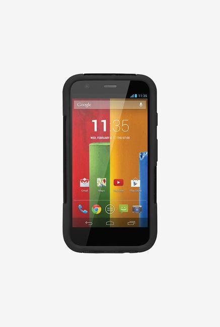 Amzer Dual Layer Hybrid KickStand Case Black for Moto G