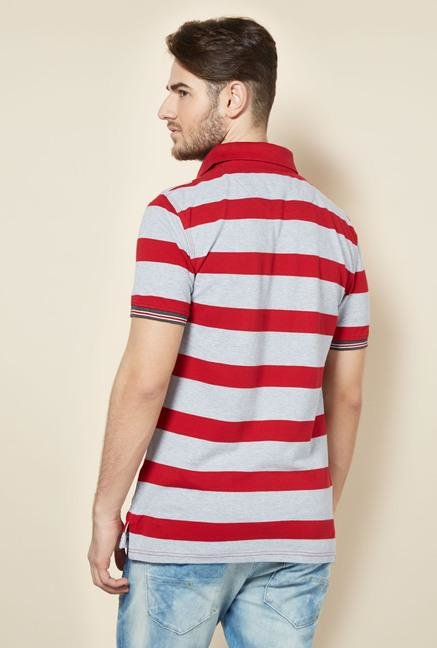 celio* Red Striped Polo T-Shirt