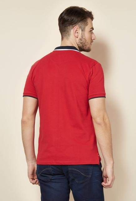 celio* Red Solid Polo T-Shirt