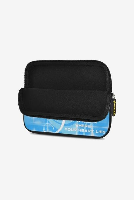 Amzer 7.75 Inch Neoprene Sleeve - Sky Blue Music