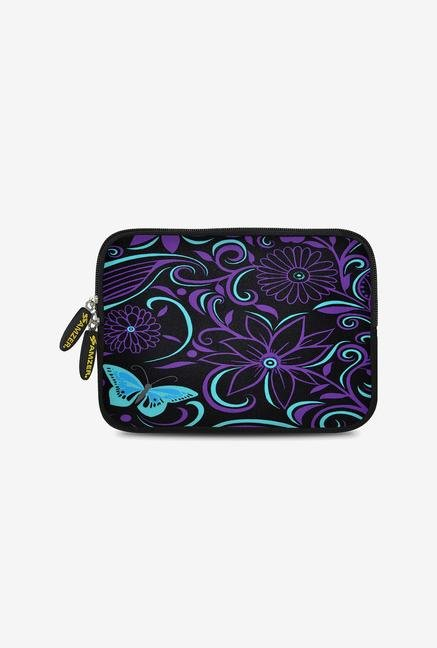 Amzer 7.75 Inch Neoprene Sleeve - Turquoise Purple Fly