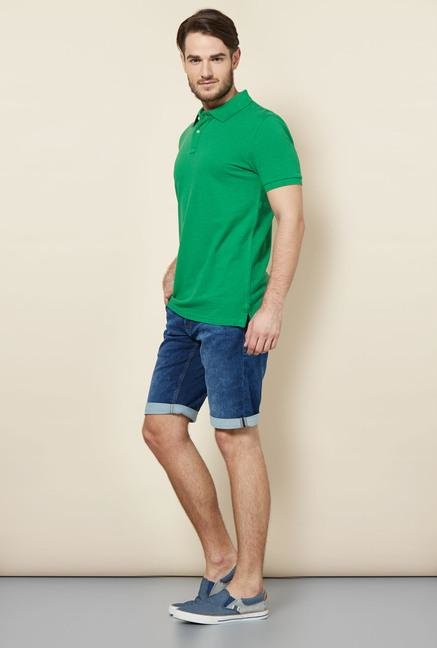 celio* Green Solid Polo T-Shirt