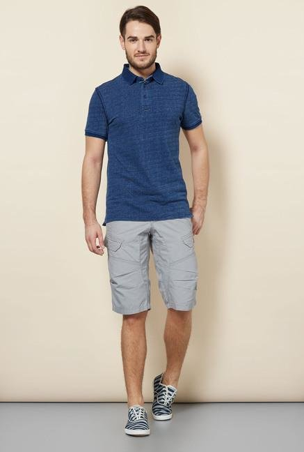 celio* Indigo Striped Slim Fit Polo T-Shirt