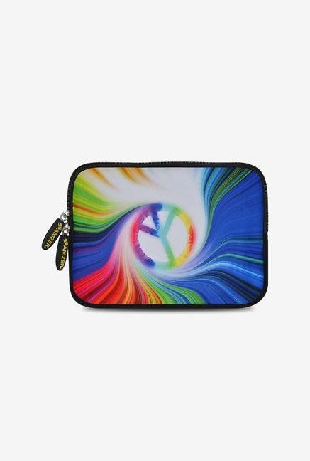 Amzer 7.75 Inch Neoprene Sleeve - Rainbow Peace