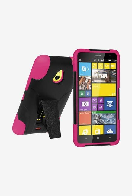 Amzer Dual Layer Hybrid Case Black & Hot Pink for Lumia 1320