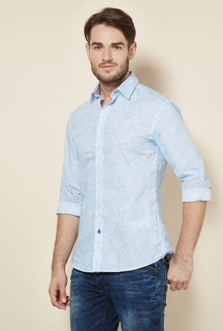 celio* Blue Paisley Printed Casual Shirt