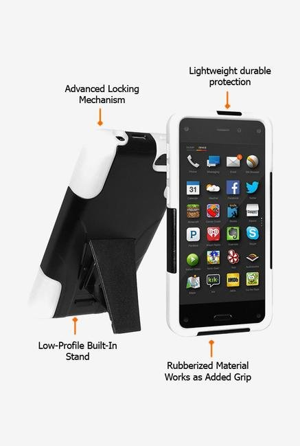 Amzer Dual Layer Case Black & White for Amazon Fire Phone