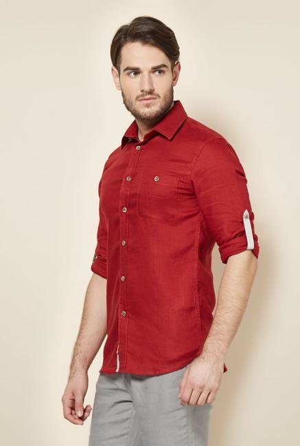 celio* Red Solid Casual Shirt