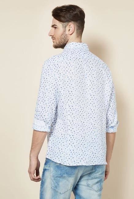 celio* White Floral Casual Shirt