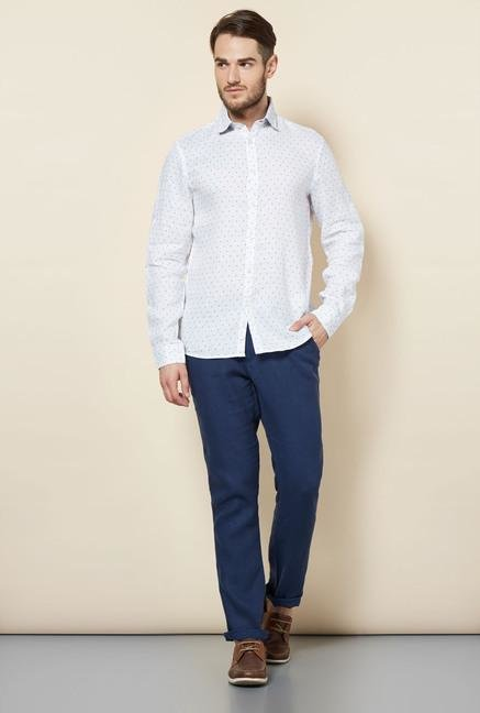 celio* White Polka Dot Casual Shirt
