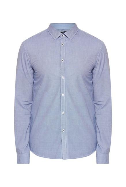 celio* Marine Solid Slim Fit Casual Shirt