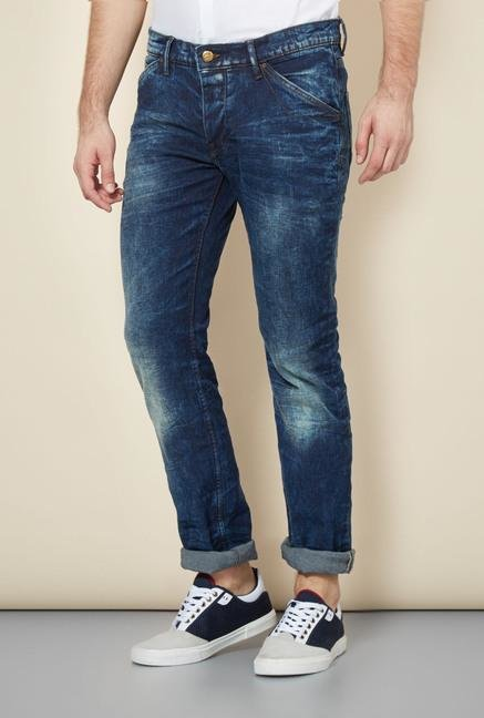 celio* Blue Solid Slim Fit Jeans