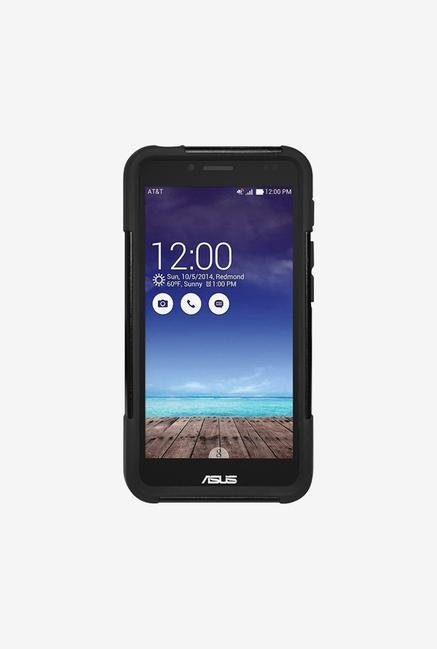 Amzer Dual Layer Hybrid KickStand Case Black for PadFone X