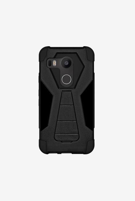 Amzer Dual Layer Hybrid KickStand Case Black for Nexus 5X