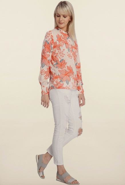 Vero Moda White Floral Top