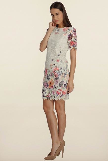 Vero Moda White Floral Casual Dress