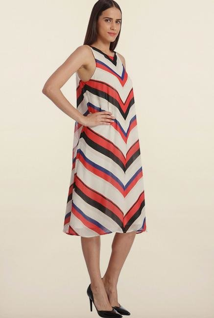 Vero Moda Multicolored Stripes Casual Dress