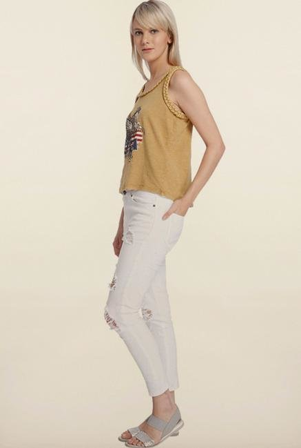 Vero Moda Tan Printed Top