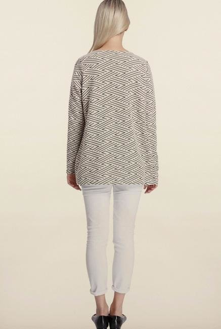 Vero Moda White Printed Shrug