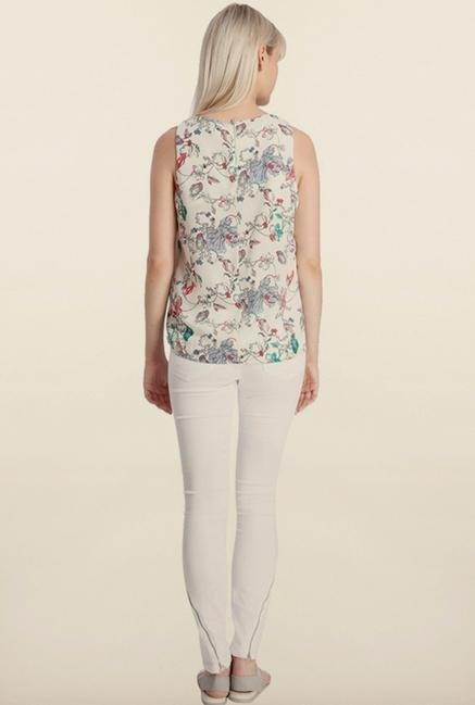 Vero Moda Off-White Printed Top