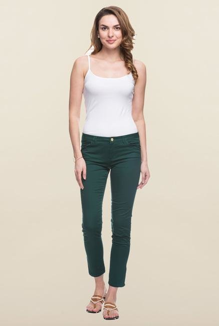 Cottonworld Forest Solid Cotton Pant
