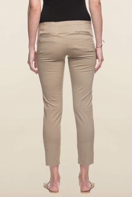 Cottonworld Dark Beige Cotton Pant