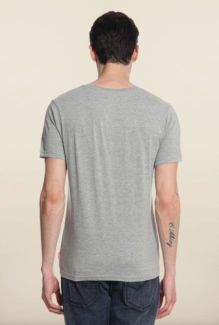 Cottonworld Grey Graphic T-Shirt