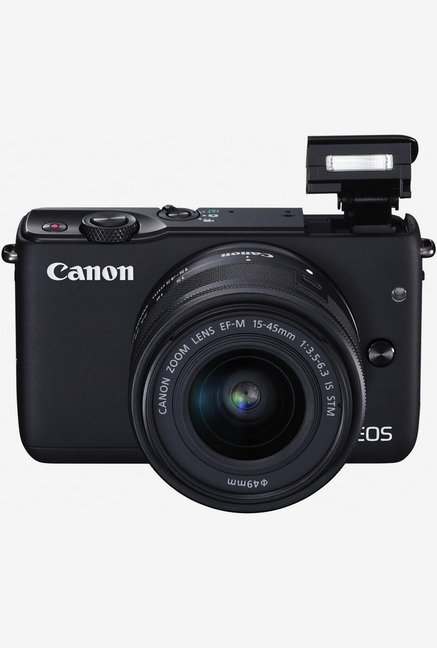 Canon EOS M10 Mirrorless Camera Black with EF-M15-45mm Lens