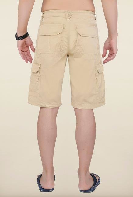 Cottonworld Biscuit Solid Cotton Shorts