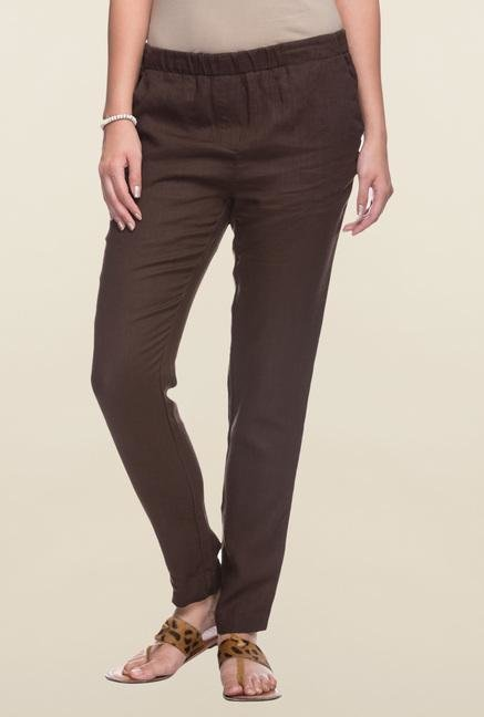 Cottonworld Coco Solid Linen Pant