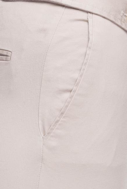 Cottonworld Beige Cotton Pant