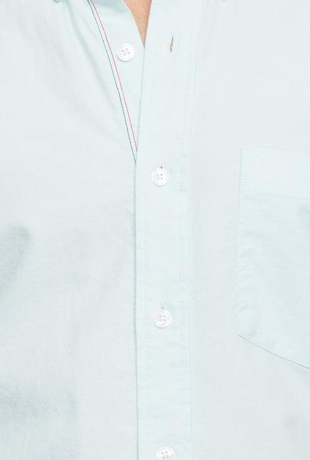 Cottonworld Jade Solid Cotton Casual Shirt