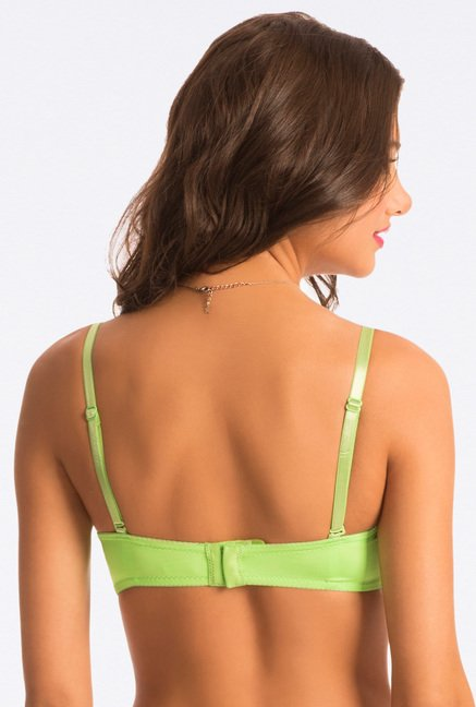 Pretty Secrets Green Solid Padded Bra