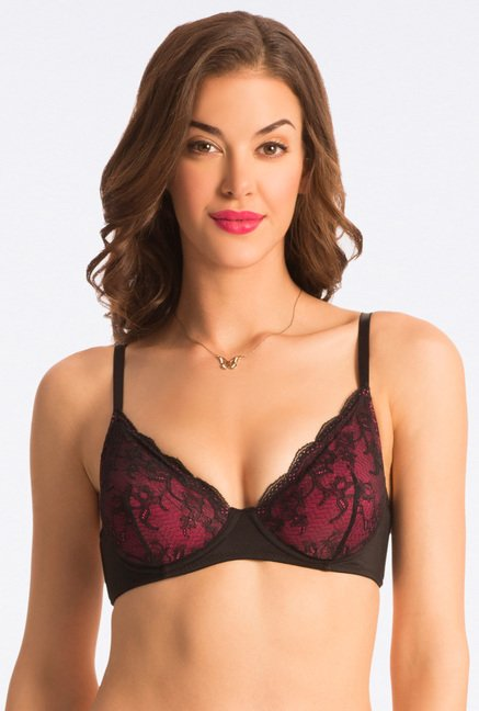 Pretty Secrets Fuchsia & Lime Non-Padded Bra (Pack Of 2)