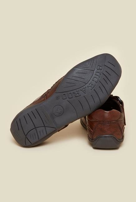 Buckaroo Cameron Brown Leather Sandals