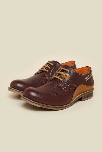 Buckaroo Trevor Burgundy Derby Shoes