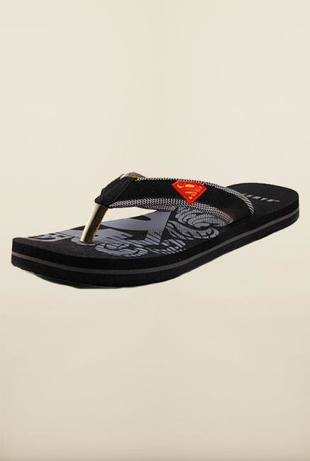 Superman Black Flip Flops