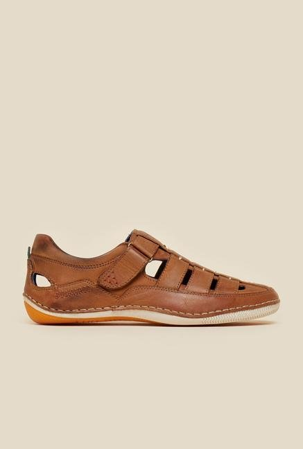 Buckaroo Pedro Tan Leather Sandals