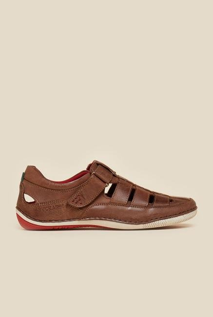 Buckaroo Pedro Brown Leather Sandals