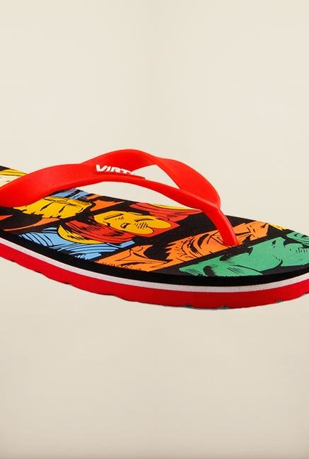 Marvel Comics Multi Color Flip Flops