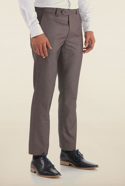 Shapes Grey Solid Chinos