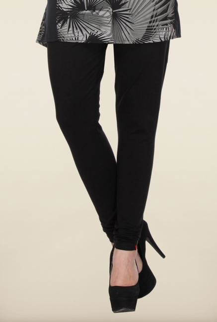 W Black Solid Leggings